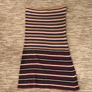 Anthropologie Adriane Striped Skirt